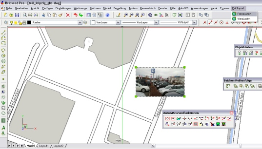 osm karte in Bricscad