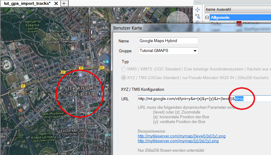 Bild: Google Maps in BricsCAD