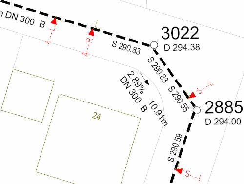 AutoGIS Kanal Bestandsplan mit AutoGIS BricsCAD erfaßt