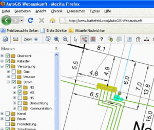 GIS Strom im WebGIS