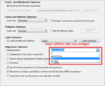 Spatial Manager Optionen für den Shape Import
