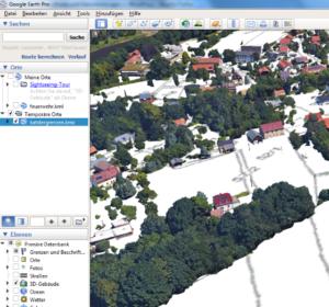 BricsCAD Rasterdatei in Google Earth