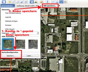 google earth einstellungen in geprint file