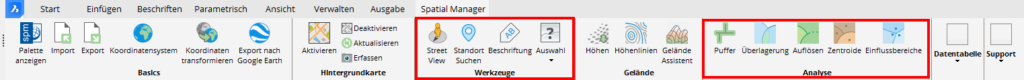 GIS Analyse in BricsCAD mit Spatial Manager V7